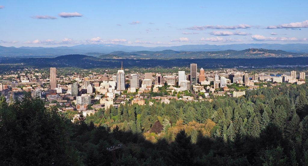 Landscape view of Portland, Oregon