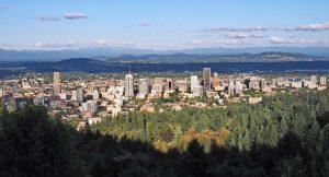 Landscape view of Portland, Oregon