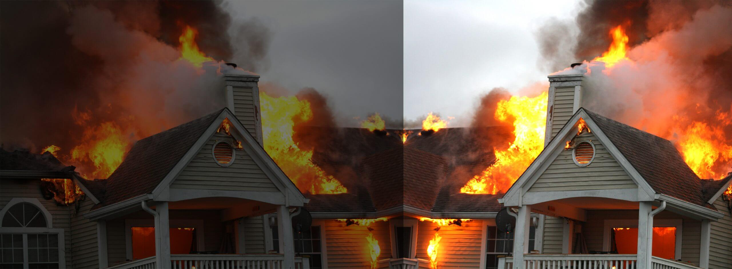 Chimcare Avoid Chimney Fires House Fire Image